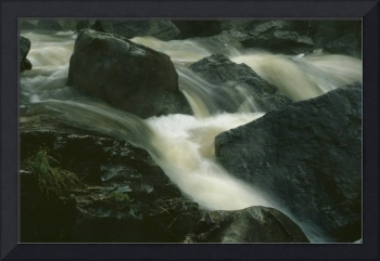 Fast Flowing River Rapids