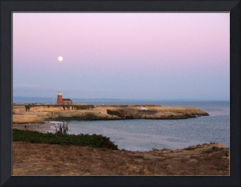 Full Moon Over Lighthouse - Santa Cruz, CA