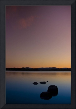 Lake of Menteith by sunset, Scotland