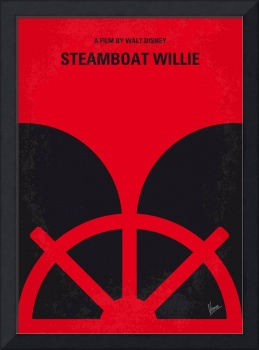 No085 My Steamboat Willie minimal movie poster