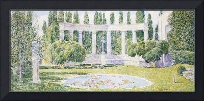 The Bartlett Gardens, Amagansett, 1933 (oil on can