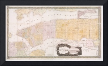 Vintage Map of New York City (1845)