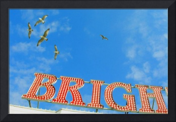 BRIGH [Brighton Pier sign]