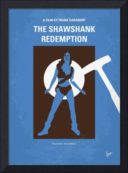 No246 My THE SHAWSHANK REDEMPTION minimal movie po