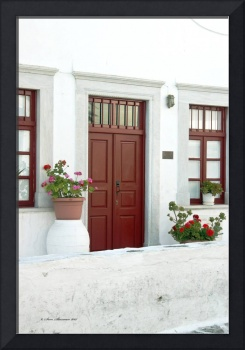 Mykonos Red Door and Windows