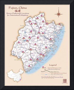 Fujian China Orphanage Location Map v1.0