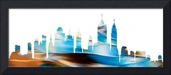 Decorative Skyline Abstract New York P1015A