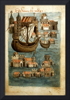 Illuminated Manuscript Framed Art Print