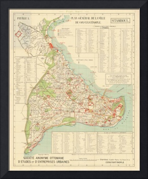Vintage Istanbul & Constatinople Map (1922)