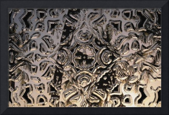 Firelight Reflected on Patterned Metal