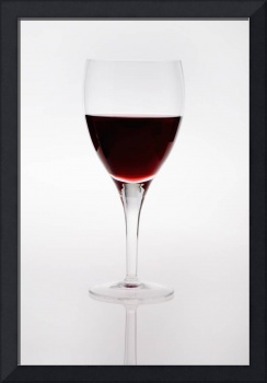 A Wine Glass With Red Wine