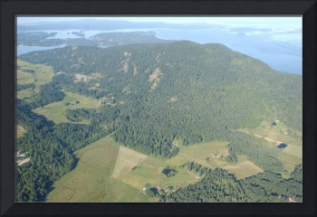 aerial view of Orcas Island