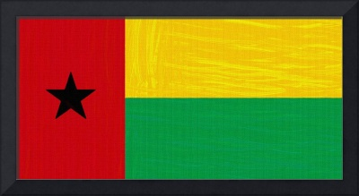 Flag of Guinea-Bissau ,  County Flag Painting ca 2