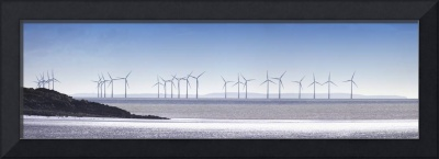 Wind Turbines Along The Coast,  Solway Firth, Dumf