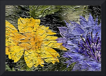 20a Abstract Floral Painting Digital Expressionism