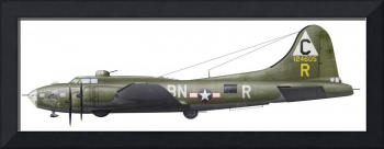 Illustration of a Boeing B-17F Knockout Dropper ai