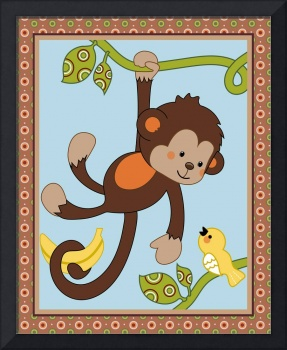 Curly Tails Monkey and Bird