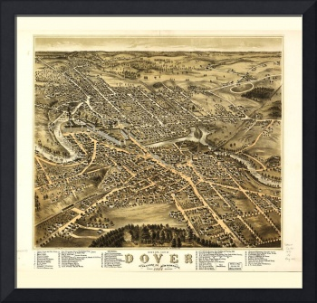 Bird's Eye View of Dover, New Hampshire (1877)