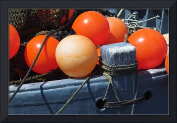 Buoys on a boat