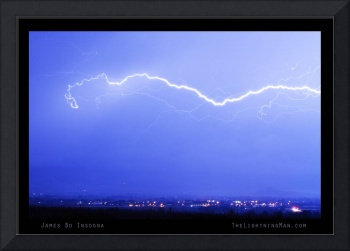 Lightning Strikes Over North Boulder CO Poster  LM
