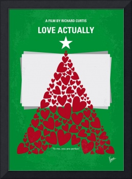No701 My Love Actually minimal movie poster