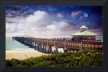 Juno Beach Pier Treasure Coast Seascape Dawn C5a