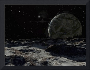 A view from the surface of a large Kuiper Belt Obj