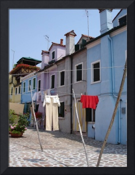 Clothes Hanging in Burano, Italy