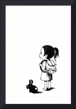 Girl and a Rabbit