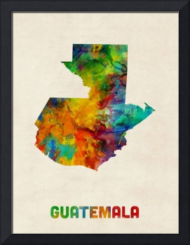 Guatemala Watercolor Map