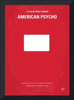No005 My American Psyhco minimal movie poster