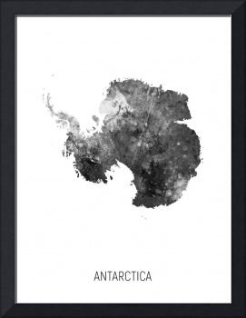 Antarctica Watercolor Map