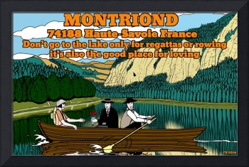 drawing about Montriond ( Haute Savoie France)