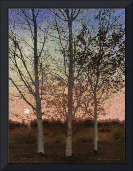 three impressionist trees