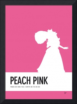 No44 My Minimal Color Code poster Peach