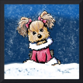 Winter Whimsy Yorkie Terrier