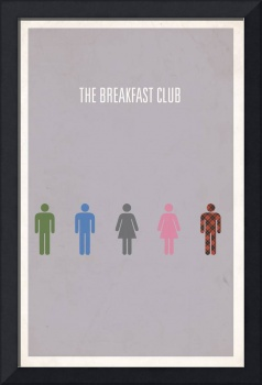 Breakfast Club minimalist movie poster