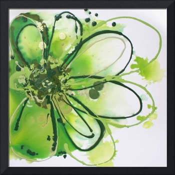 Green Abstract Splash
