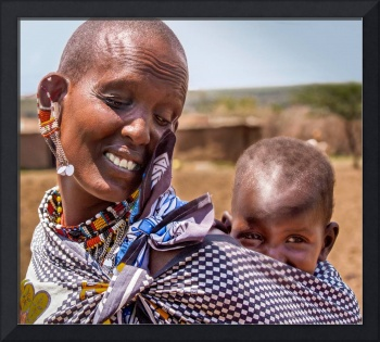Masai mother and child