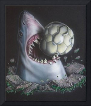 Breaching Landshark Gets the Soccer ball