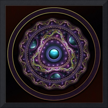Beautiful Turquoise and Amethyst Fractal Jewelry