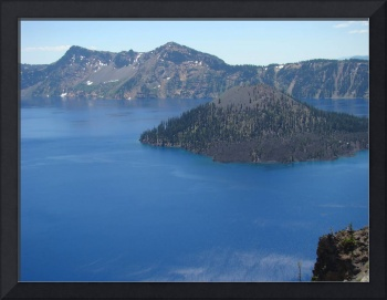 Crater Lake Natural Wonder Oregon Blue Lake Island