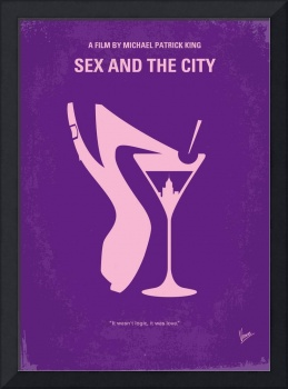 No308 My Sex and the City minimal movie poster