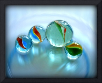 Marbles on Blue