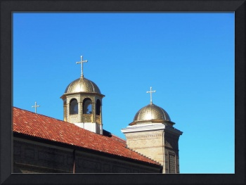 Two crosses on rooftop