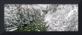 South Fork Snoqualmie River winter panorama