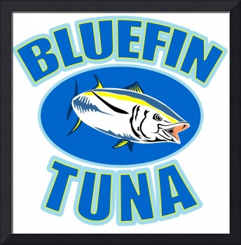 bluefin tuna fish front