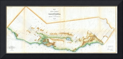 Vintage Map of California (1854)