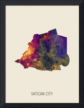 Vatican City Watercolor Map