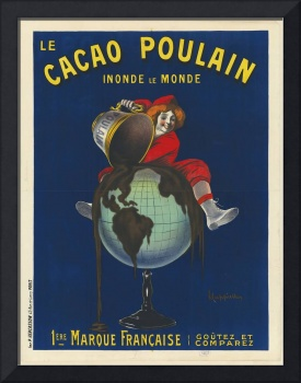 Le Cacao Poulain by Cappiello Vintage Poster